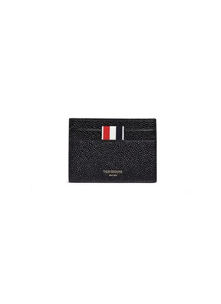 Main View - Click To Enlarge - Thom Browne - Pebble grain leather cardholder