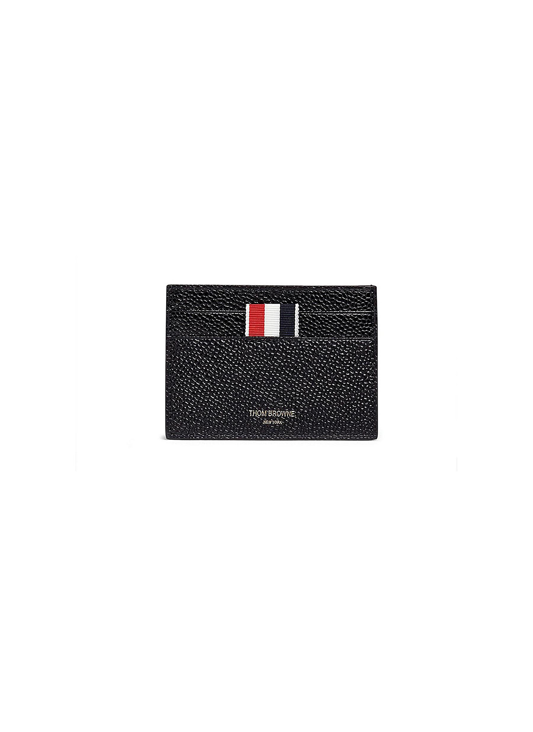 419e4b6b4a Main View - Click To Enlarge - THOM BROWNE - Pebble grain leather cardholder