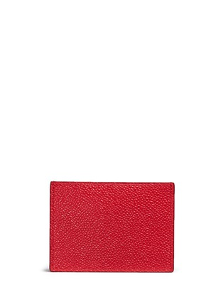 Figure View - Click To Enlarge - Thom Browne - Pebble grain leather cardholder