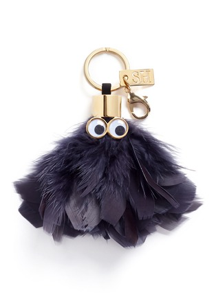 Main View - Click To Enlarge - Sophie Hulme - 'Sam' ethical Turkey feather keyring