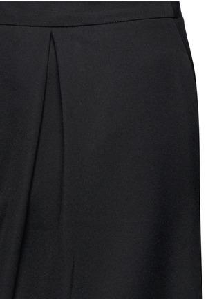 Detail View - Click To Enlarge - CYNTHIA & XIAO - Textured tartan colourblock culottes