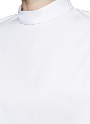 Detail View - Click To Enlarge - FFIXXED STUDIOS - 'Meiyijia' raw edged cotton poplin shirt