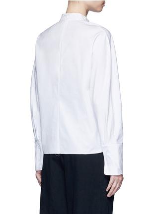 Back View - Click To Enlarge - FFIXXED STUDIOS - 'Meiyijia' raw edged cotton poplin shirt