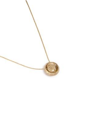 Figure View - Click To Enlarge - Lama Hourani Jewelry  - 'Evolution Of Rock' diamond quartz 18k yellow gold necklace