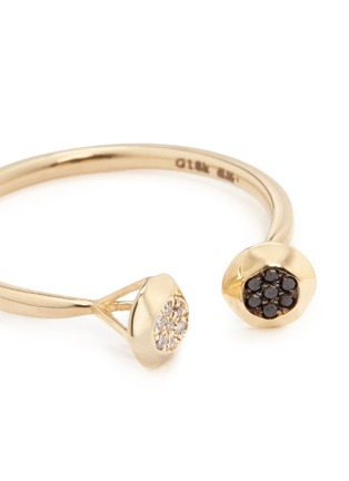 Detail View - Click To Enlarge - LAMA HOURANI JEWELRY  - Evolution of Rock' diamond pavé 18k yellow gold open ring