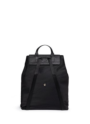 Back View - Click To Enlarge - Tory Burch - 'Ella' packable saffiano leather flap nylon backpack