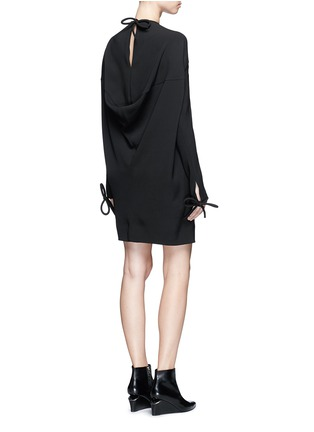 Figure View - Click To Enlarge - Balenciaga - Bow cuff silk cady dress