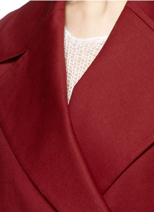 Detail View - Click To Enlarge - The Row - 'Swells' belted cotton coat