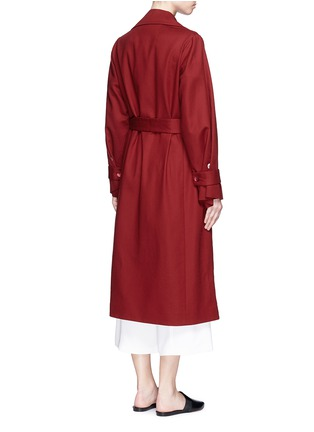 Back View - Click To Enlarge - The Row - 'Swells' belted cotton coat