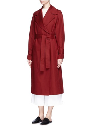 Front View - Click To Enlarge - The Row - 'Swells' belted cotton coat