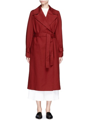 Main View - Click To Enlarge - The Row - 'Swells' belted cotton coat