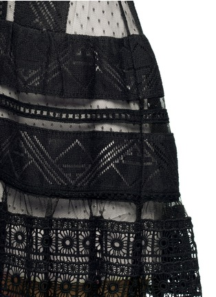 Detail View - Click To Enlarge - alice + olivia - 'Wendie' geometric embroidery boat neck dress