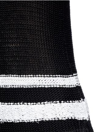 Detail View - Click To Enlarge - rag & bone - 'Dina Halter' stripe chunky knit sleeveless top