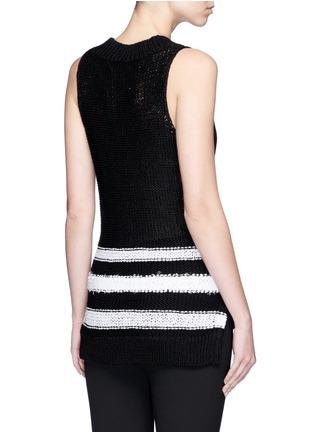 Back View - Click To Enlarge - rag & bone - 'Dina Halter' stripe chunky knit sleeveless top