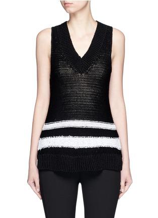 Main View - Click To Enlarge - rag & bone - 'Dina Halter' stripe chunky knit sleeveless top