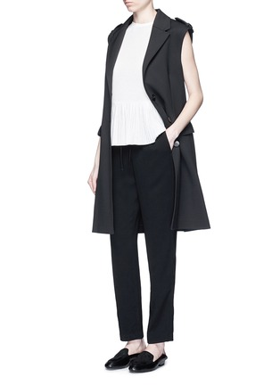 Figure View - Click To Enlarge - Theory - 'Tralpin' admiral crepe drawstring pants
