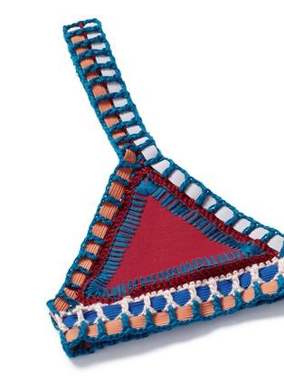 Detail View - Click To Enlarge - Kiini - 'Soley' crochet trim triangle bikini top