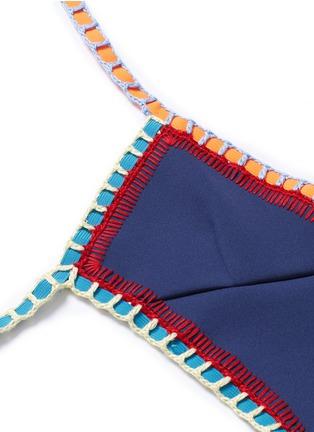 Detail View - Click To Enlarge - KIINI - 'Tasmin Mono' crochet trim one-piece swimsuit