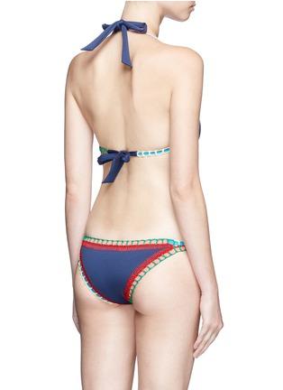Back View - Click To Enlarge - KIINI - 'Tasmin Mono' crochet trim one-piece swimsuit