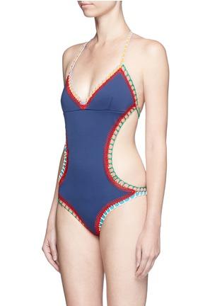 Figure View - Click To Enlarge - KIINI - 'Tasmin Mono' crochet trim one-piece swimsuit