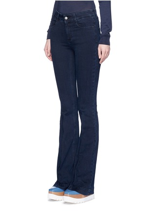 Front View - Click To Enlarge - Stella McCartney - Flared leg cotton denim pants