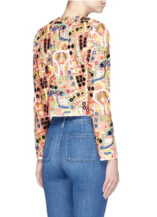 Back View - Click To Enlarge - alice + olivia - 'Kidman' mix embroidery jacket