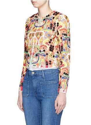 Front View - Click To Enlarge - alice + olivia - 'Kidman' mix embroidery jacket
