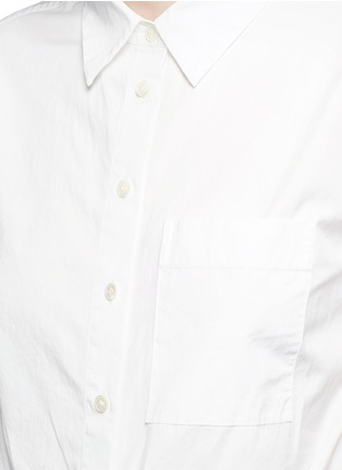 Detail View - Click To Enlarge - THEORY - 'Hekanina' tie front cotton shirt