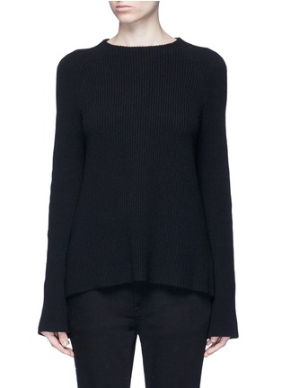Main View - Click To Enlarge - Helmut Lang - Belted open back cotton-cashmere sweater
