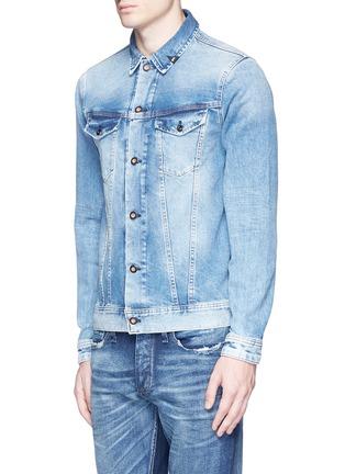 Front View - Click To Enlarge - DENHAM - 'Amsterdam' denim jacket