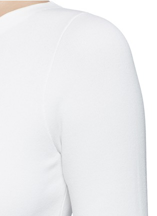 Detail View - Click To Enlarge - Theory - 'Uleera' one-shoulder crepe knit top
