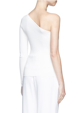 Back View - Click To Enlarge - Theory - 'Uleera' one-shoulder crepe knit top