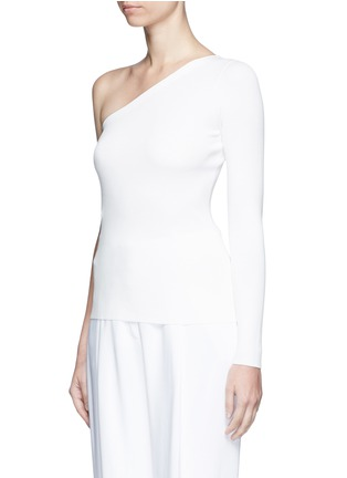 Front View - Click To Enlarge - Theory - 'Uleera' one-shoulder crepe knit top