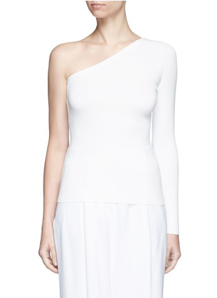 Main View - Click To Enlarge - Theory - 'Uleera' one-shoulder crepe knit top