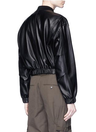 Back View - Click To Enlarge - HELMUT LANG - Lambskin leather bomber jacket