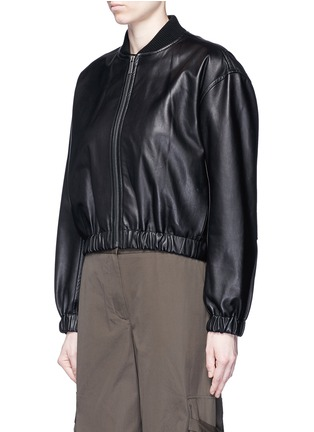 Front View - Click To Enlarge - HELMUT LANG - Lambskin leather bomber jacket