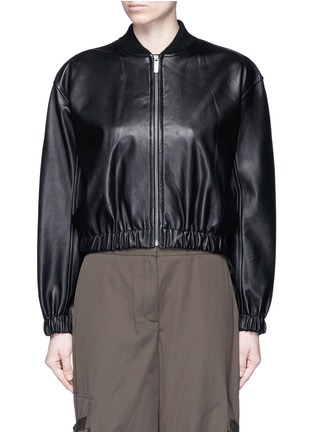 Main View - Click To Enlarge - HELMUT LANG - Lambskin leather bomber jacket
