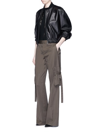 Figure View - Click To Enlarge - HELMUT LANG - Lambskin leather bomber jacket