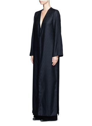Front View - Click To Enlarge - THE ROW - 'Muan' wavy leaf cloqué cashmere-silk coat