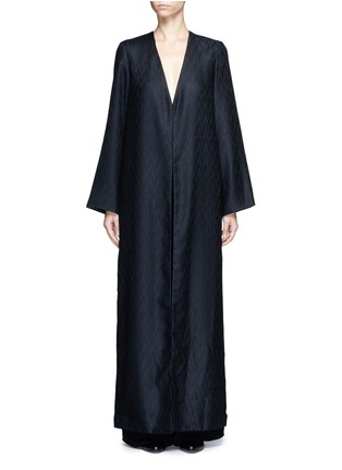 Main View - Click To Enlarge - THE ROW - 'Muan' wavy leaf cloqué cashmere-silk coat