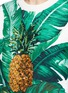 Detail View - Click To Enlarge - Dolce & Gabbana - Pineapple embroidery leaf print brocade top
