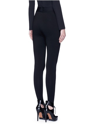 Back View - Click To Enlarge - AZZEDINE ALAÏA - 'Supreme' wool blend leggings