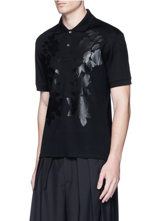 Front View - Click To Enlarge - Alexander McQueen - Floral print polo shirt