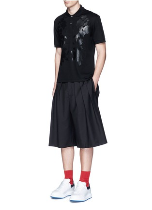 Figure View - Click To Enlarge - Alexander McQueen - Floral print polo shirt