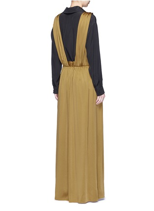 Back View - Click To Enlarge - Lanvin - Knotted suspender crepe maxi skirt
