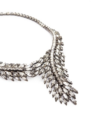 Detail View - Click To Enlarge - Erickson Beamon - 'Frequent Flyer' Swarovski crystal feather necklace