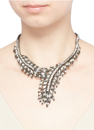 Figure View - Click To Enlarge - Erickson Beamon - 'Frequent Flyer' Swarovski crystal feather necklace