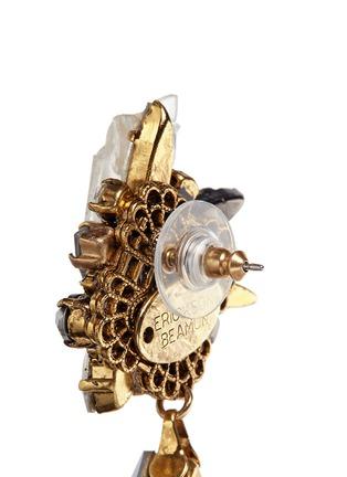 Detail View - Click To Enlarge - Erickson Beamon - 'Milky Way' 24k gold plated Swarovski crystal teardrop earrings