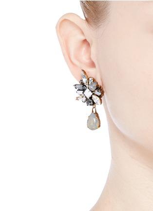 Figure View - Click To Enlarge - Erickson Beamon - 'Milky Way' 24k gold plated Swarovski crystal teardrop earrings