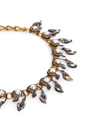 Detail View - Click To Enlarge - Erickson Beamon - 'Milky Way' Swarovski crystal 24k gold plated choker necklace